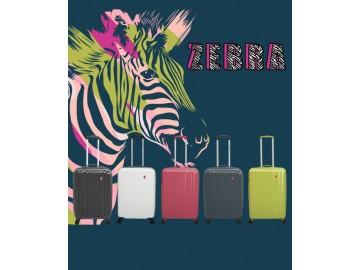 Gladiator ZEBRA Kabinový kufr 4 kolečka 55 cm - Růžový