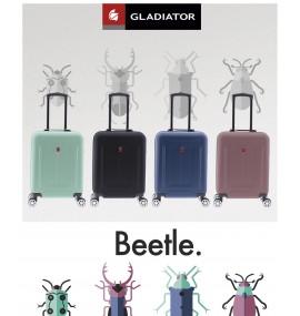 Gladiator BEETLE Kabinový kufr 4 kolečka 55 cm - Černý
